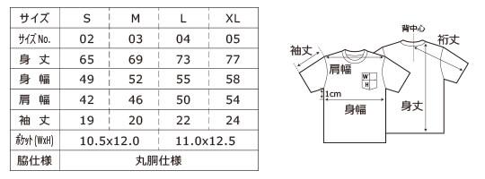 [5006] 5.6オンス ハイクオリティー Tシャツ(ポケット付)【ユナイテッドアスレ】サイズ表
