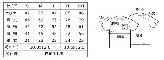 [5029] 5.6オンス ピグメントダイ Tシャツ(ポケット付)【ユナイテッドアスレ】サイズ表