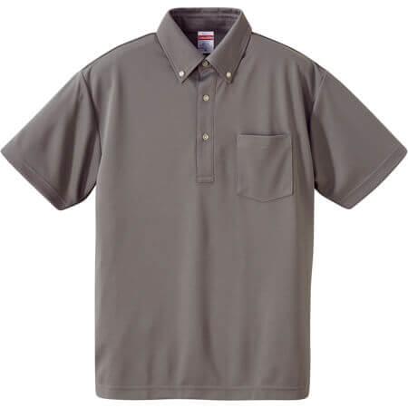[5921] 4.1オンス ドライアスレチック ポロシャツ (ボタンダウン)(ポケット付)【ユナイテッドアスレ】